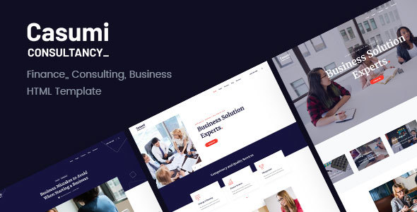 Casumi v1.0.2 — Finance, Consulting HTML Template