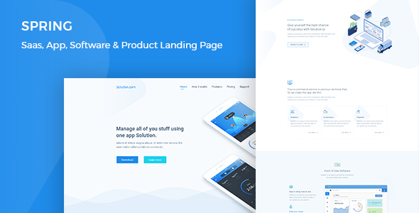Spring v1.0 — Software and App Landing WordPress Theme