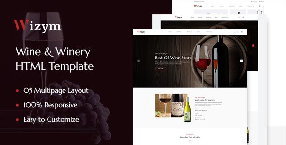 Wizym — Wine & Winery HTML Template
