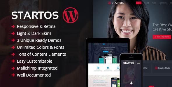 Startos v1.4.5 — Modern App Landing Page WordPress Theme