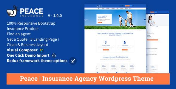 Peace v2.5.5 — Insurance Agency WordPress Theme
