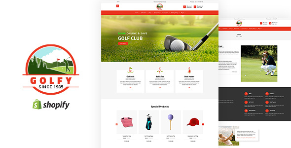 Golfy — Golf, Sports Shopify Theme