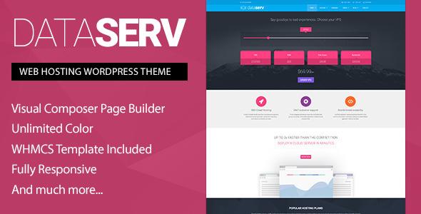 Dataserv v1.0.7 — Professional Hosting WordPress Theme