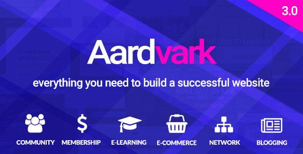 Aardvark v3.0 — BuddyPress, Membership & Community Theme