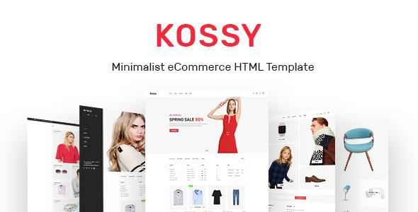Kossy — Minimalist eCommerce HTML Template