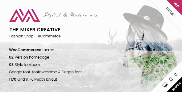 ARW Mixer v1.0 — Creative Shop WordPress Theme