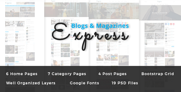 Express — Blog and Magazine PSD Template
