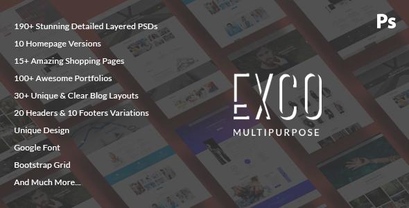 ExCo — Multi-Purpose PSD Template