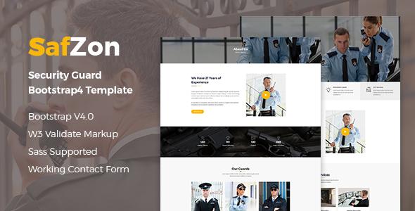 SafZon — Security Guard Bootstrap 4 Template