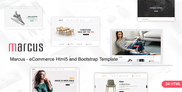 Marcus — Multipurpose WooCommerce and Magento HTML5 and Bootstrap Template
