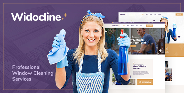 Widocline — Professional Window Cleaning Services PSD Template