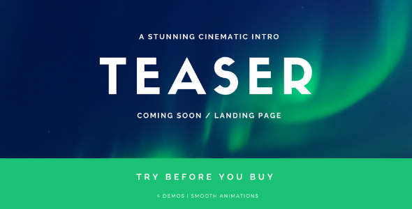 Coming Soon Template | Landing Page | Stomp — Cinematic Intro