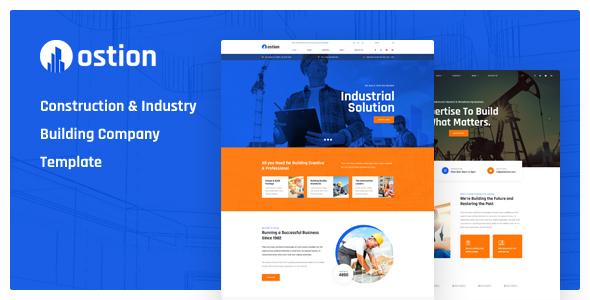 Ostion — Construction & Industry Building Company PSD Template