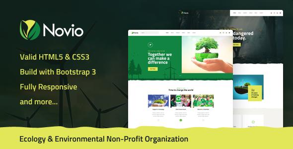 Novio — Ecology & Environmental Non-Profit Organization HTML5 Template