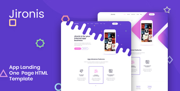 Jironis — App Landing One Page HTML Template