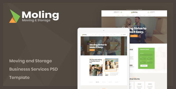 Moling — Moving and Storage Business Services PSD Template