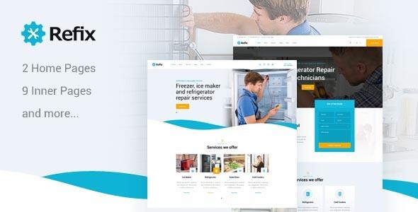 Refix v1.0 — Fridge & Freezer Repair Company HTML Template