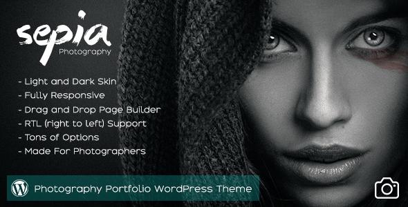 Sepia v1.9 — Photography Portfolio WordPress Theme