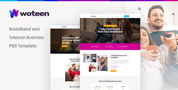Woteen — Broadband and Telecom Business PSD Template