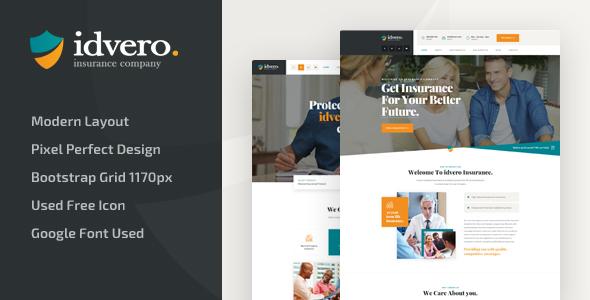 idvero — Insurance Company PSD Template