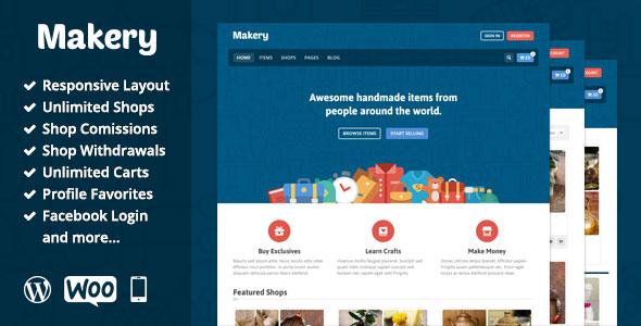 Makery v1.23 — Themeforest Marketplace WordPress Theme