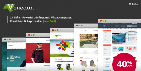 Venedor v2.6.0 — WordPress + WooCommerce Theme