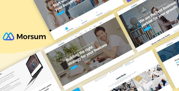 Morsum — Agency PSD Template