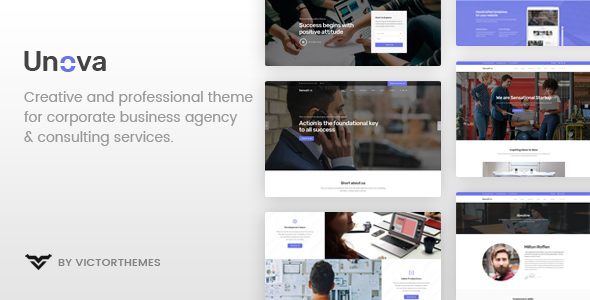 Unova v1.5 — Consulting Business WordPress Theme