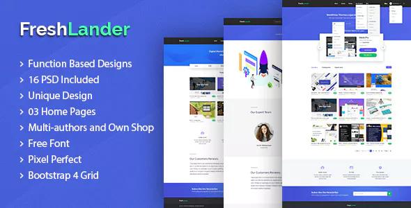 FreshLander — Marketplace for Easy Digital Downloads PSD Template