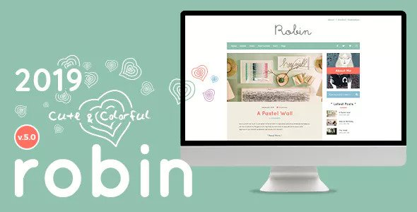 Robin v5.0 — Cute & Colorful Blog Theme