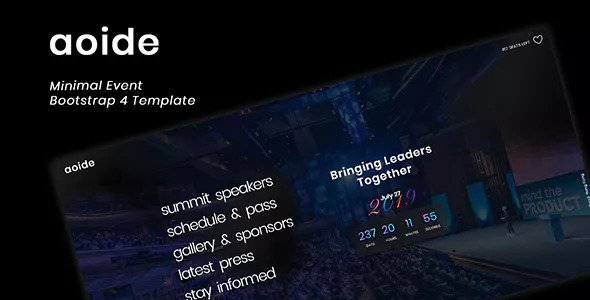 Aoide — Event Bootstrap 4 Template