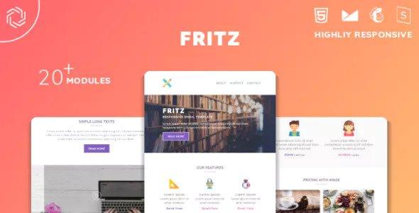 Fritz — Responsive Multipurpose Email Template