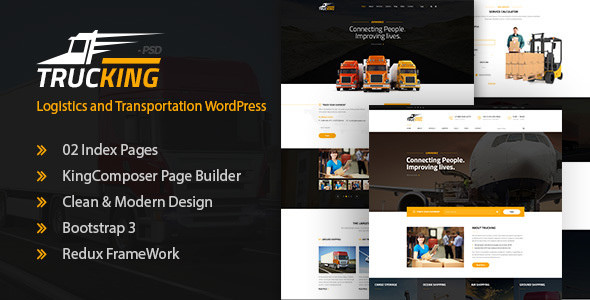 Trucking v1.5 — Logistics and Transportation Theme