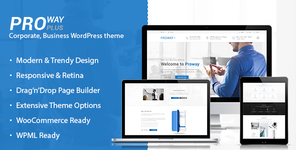 ProWay Plus v1.1.9 — Business, Finance WordPress theme
