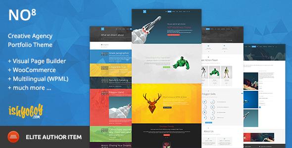 NO8 WP v2.3 — Creative Agency Portfolio Theme
