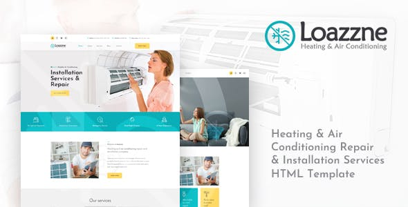 Loazzne v1.0 — Heating & Air Conditioning Services HTML Template