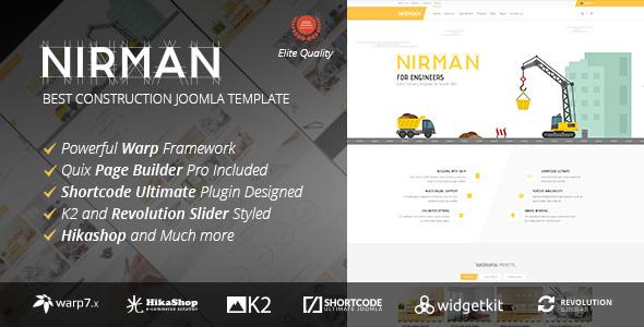 Nirman v1.1.5 — Professional Construction Joomla Template