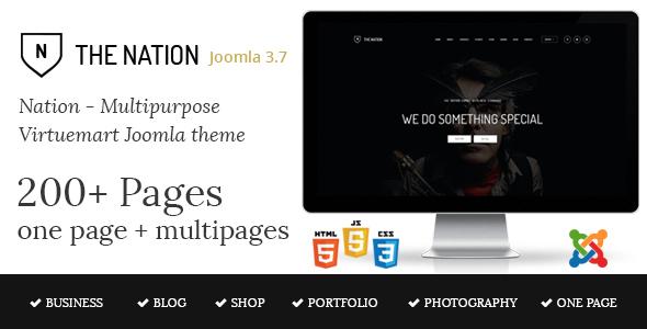 Nation v1.3 — Multipurpose Virtuemart Joomla Template