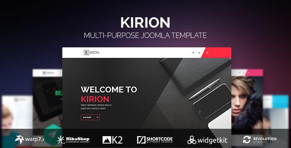 Kirion v1.2.5 — Multipurpose Joomla Template
