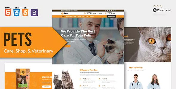 PETS — Pet Care, Shop, and Veterinary HTML Template
