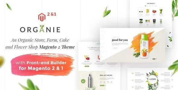Organie v1.5.4 — An Organic Store, Farm, Cake and Flower Shop Magento 2 and 1 Theme