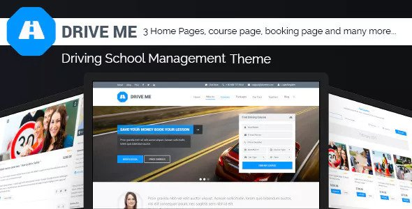 Driveme v1.3 — Driving School WordPress Theme