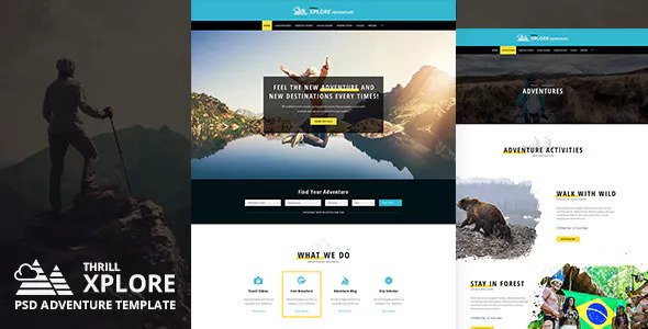 Xplore — Adventure and Travel PSD Template