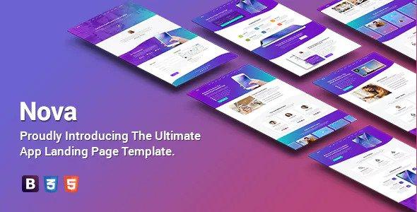 Nova — Premium App Landing Page Template
