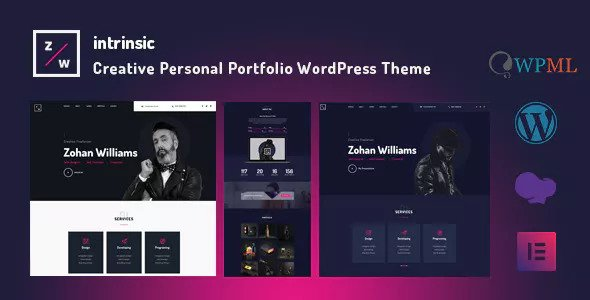 Intrinsic v1.0 — Creative Personal Portfolio Themes