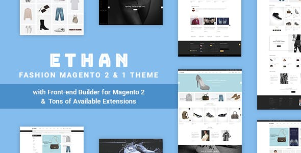 ETHAN v1.3.8 — Luxury Fashion Magento 2 and 1 Theme