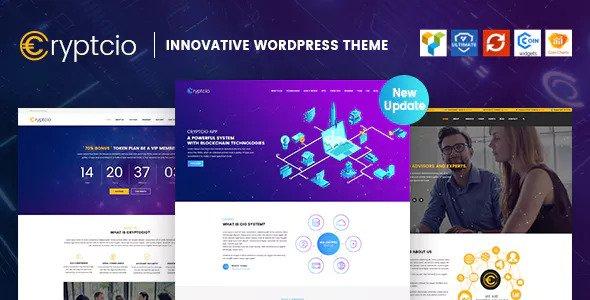 Cryptcio v1.5 — Innovative WordPress Theme