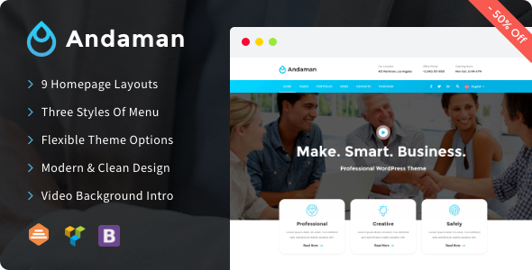 Andaman v1.0.9 — Creative & Business WordPress Theme