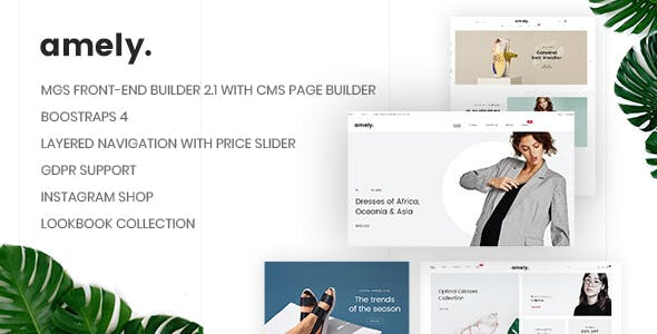 Amely v1.0.7 — Clean & Modern Magento 2 Theme