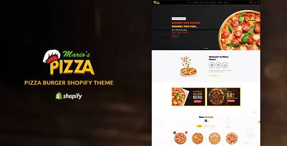 Marios Pizza v1.1 — Pizza, Burger Restaurant Shopify